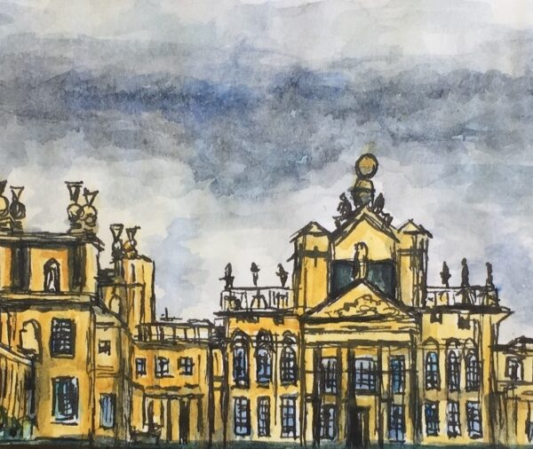Watercolour of Blenheim Palace, London