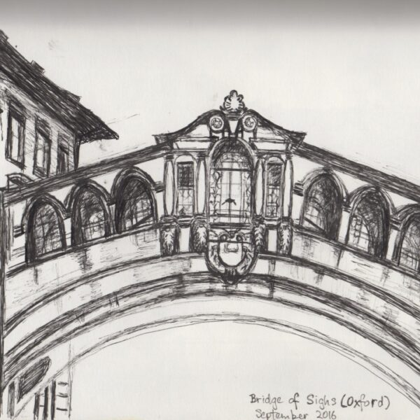 """Pencil sketch of Oxford's very own """"Bridge of Sighs"""""""